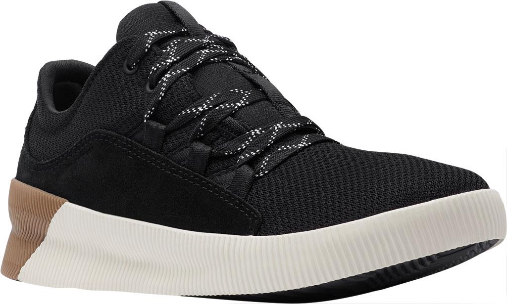 Women's Sorel Out N About Plus Lace Sneaker, Black Waterproof Mesh/Suede, large, image 1