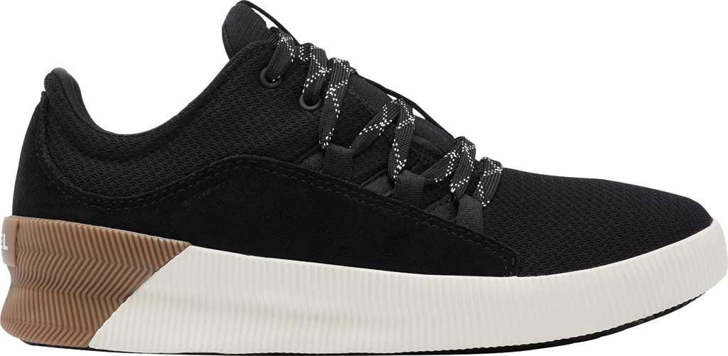 Women's Sorel Out N About Plus Lace Sneaker, Black Waterproof Mesh/Suede, large, image 2