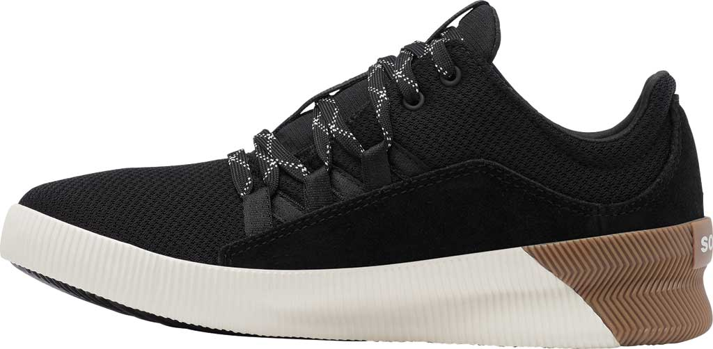Women's Sorel Out N About Plus Lace Sneaker, Black Waterproof Mesh/Suede, large, image 3