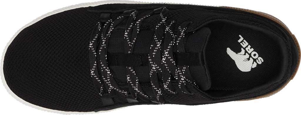 Women's Sorel Out N About Plus Lace Sneaker, Black Waterproof Mesh/Suede, large, image 5