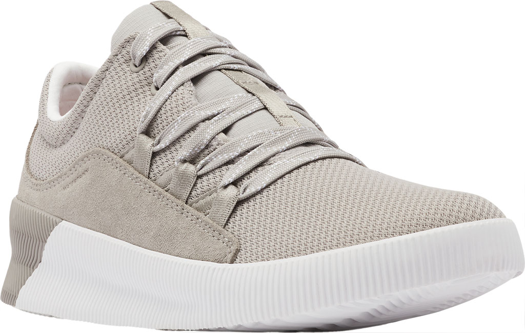 Women's Sorel Out N About Plus Lace Sneaker, Dove Waterproof Mesh/Suede, large, image 1
