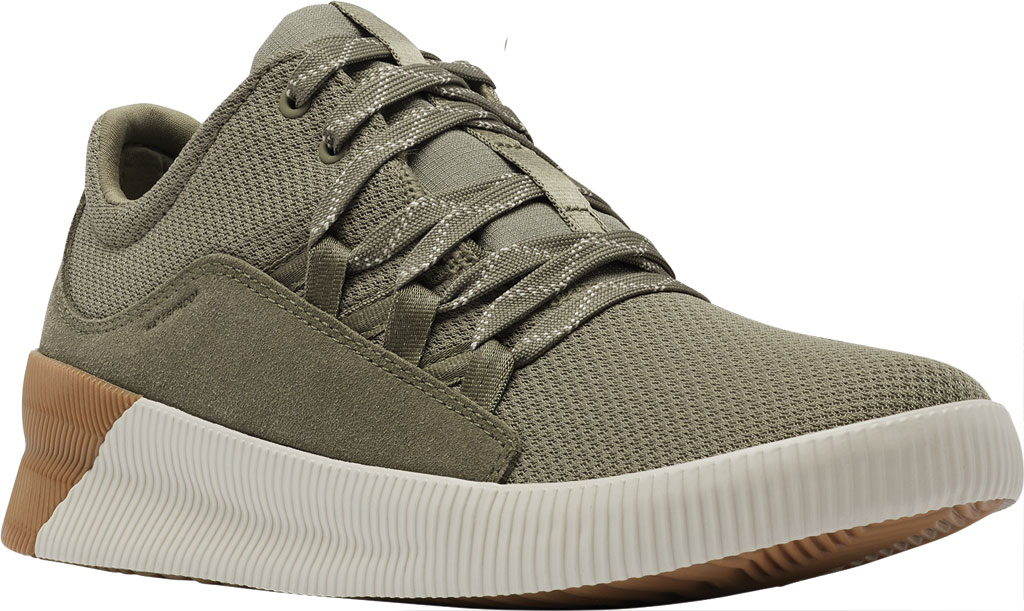 Women's Sorel Out N About Plus Lace Sneaker, Sage Waterproof Mesh/Suede, large, image 1