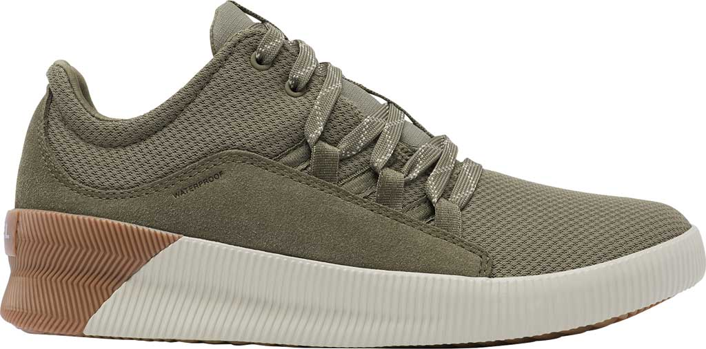 Women's Sorel Out N About Plus Lace Sneaker, Sage Waterproof Mesh/Suede, large, image 2