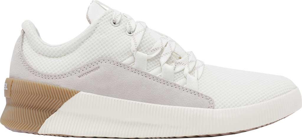Women's Sorel Out N About Plus Lace Sneaker, Sea Salt Waterproof Mesh/Suede, large, image 2