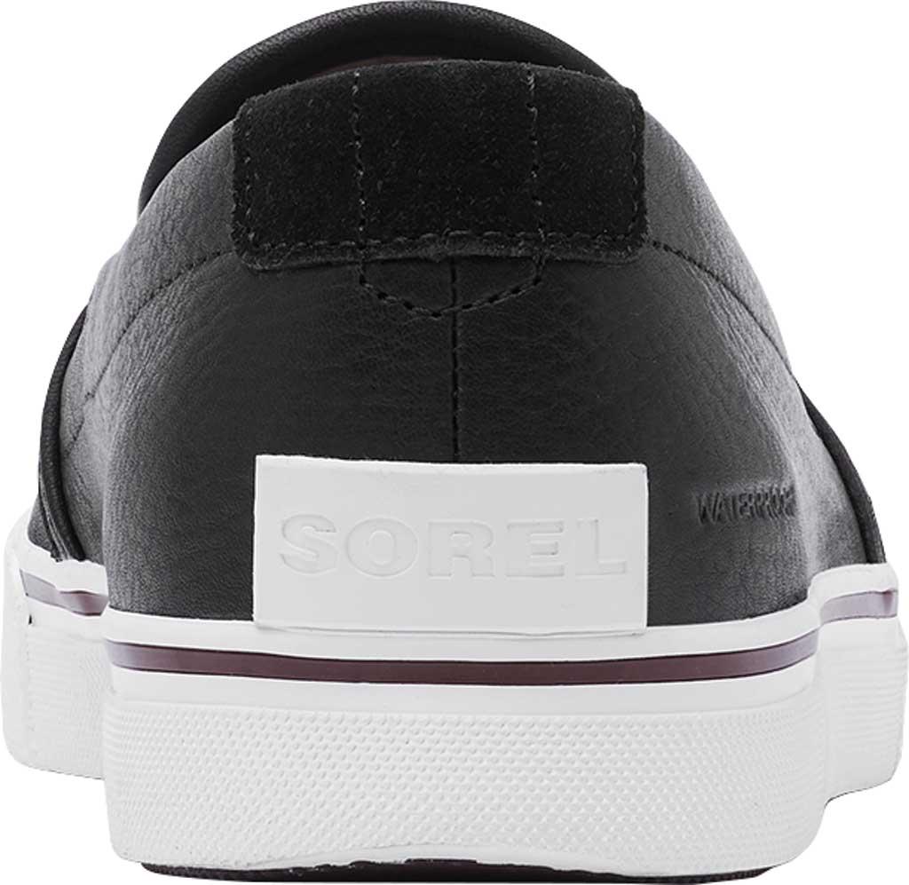 Men's Sorel Caribou Waterproof Slip On Sneaker, Black/Fungi Waterproof Full Grain Leather, large, image 4
