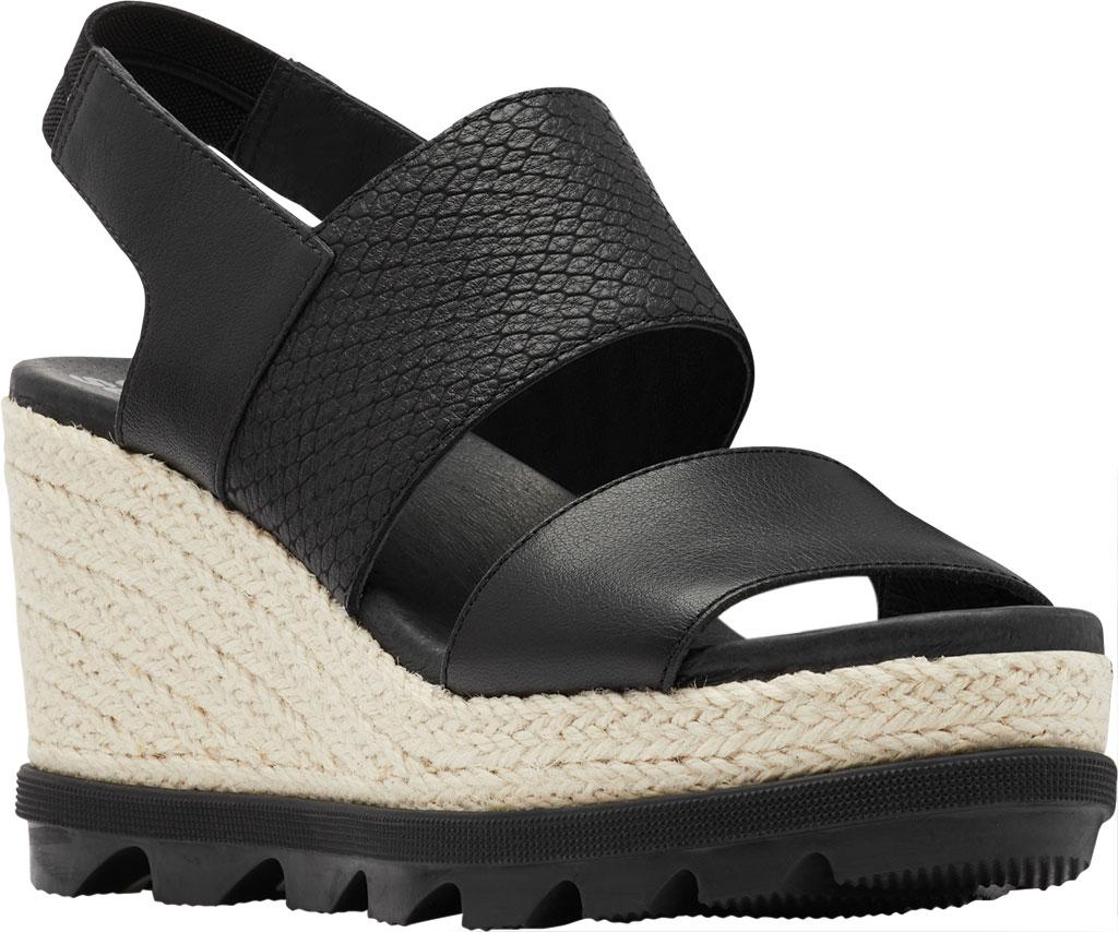 Women's Sorel Joanie II Hi Wedge Slingback, Black Full Grain Leather, large, image 1