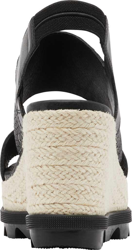 Women's Sorel Joanie II Hi Wedge Slingback, Black Full Grain Leather, large, image 4