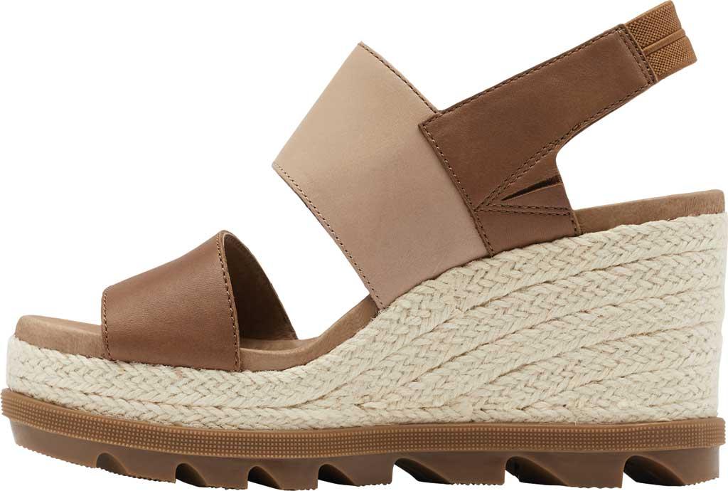 Women's Sorel Joanie II Hi Wedge Slingback, Velvet Tan Full Grain Leather, large, image 3
