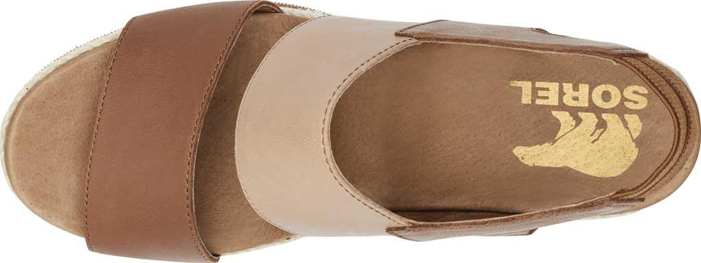 Women's Sorel Joanie II Hi Wedge Slingback, Velvet Tan Full Grain Leather, large, image 5