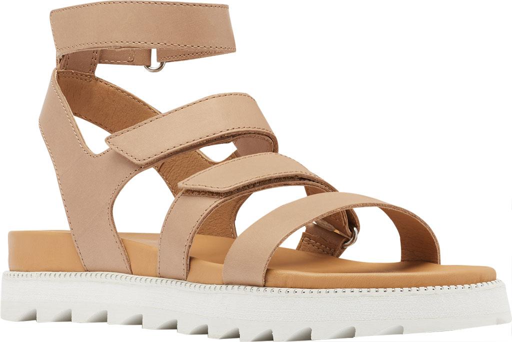 Women's Sorel Roaming Gladiator Sandal, Honest Beige Full Grain Leather, large, image 1