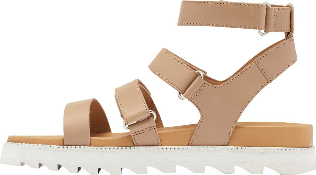 Women's Sorel Roaming Gladiator Sandal, Honest Beige Full Grain Leather, large, image 3
