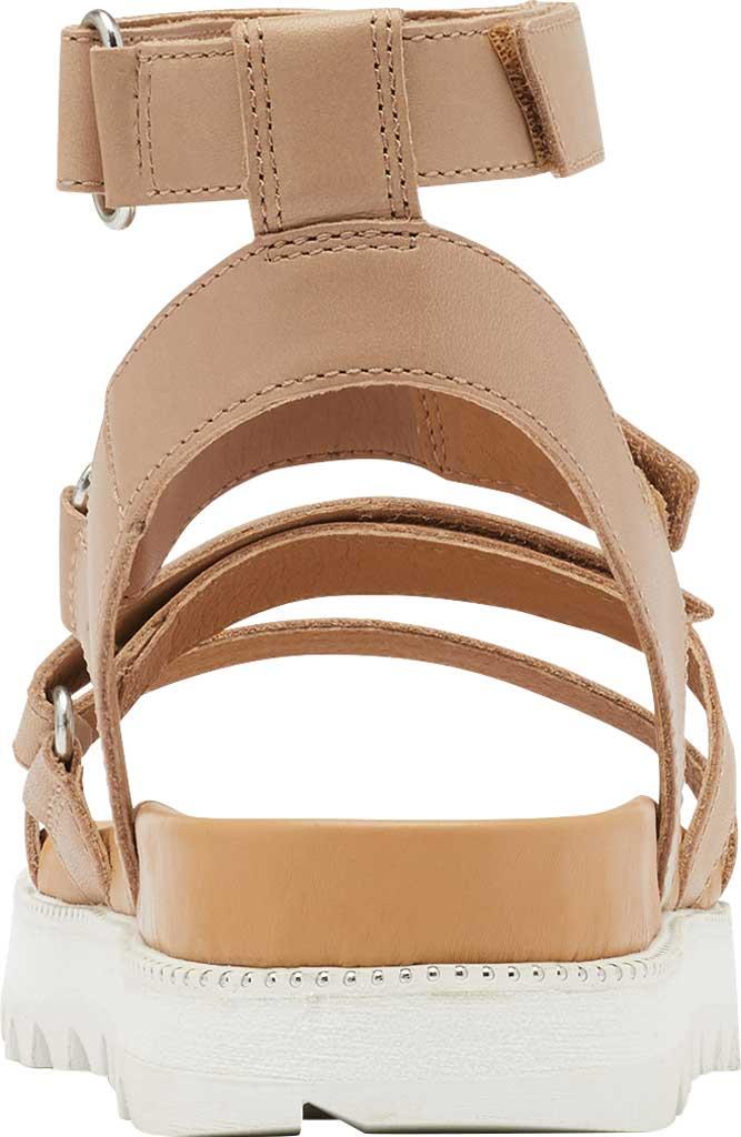 Women's Sorel Roaming Gladiator Sandal, Honest Beige Full Grain Leather, large, image 4