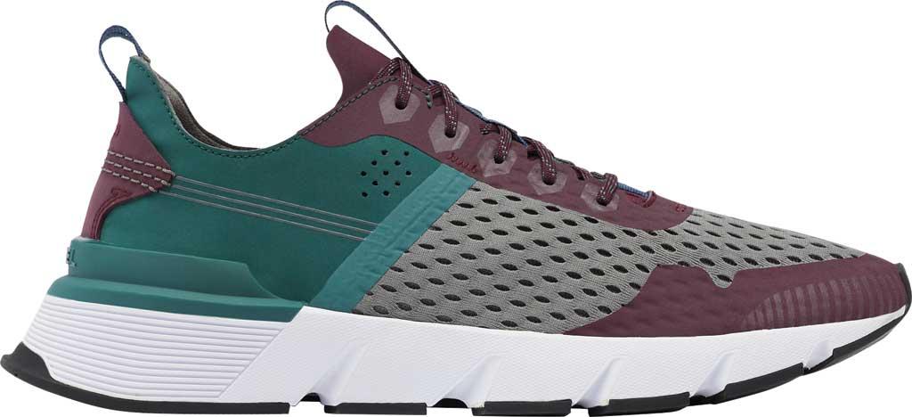 Men's Sorel Kinetic Rush Sneaker, Epic Plum/Quarry Synthetic Nubuck/Mesh, large, image 2