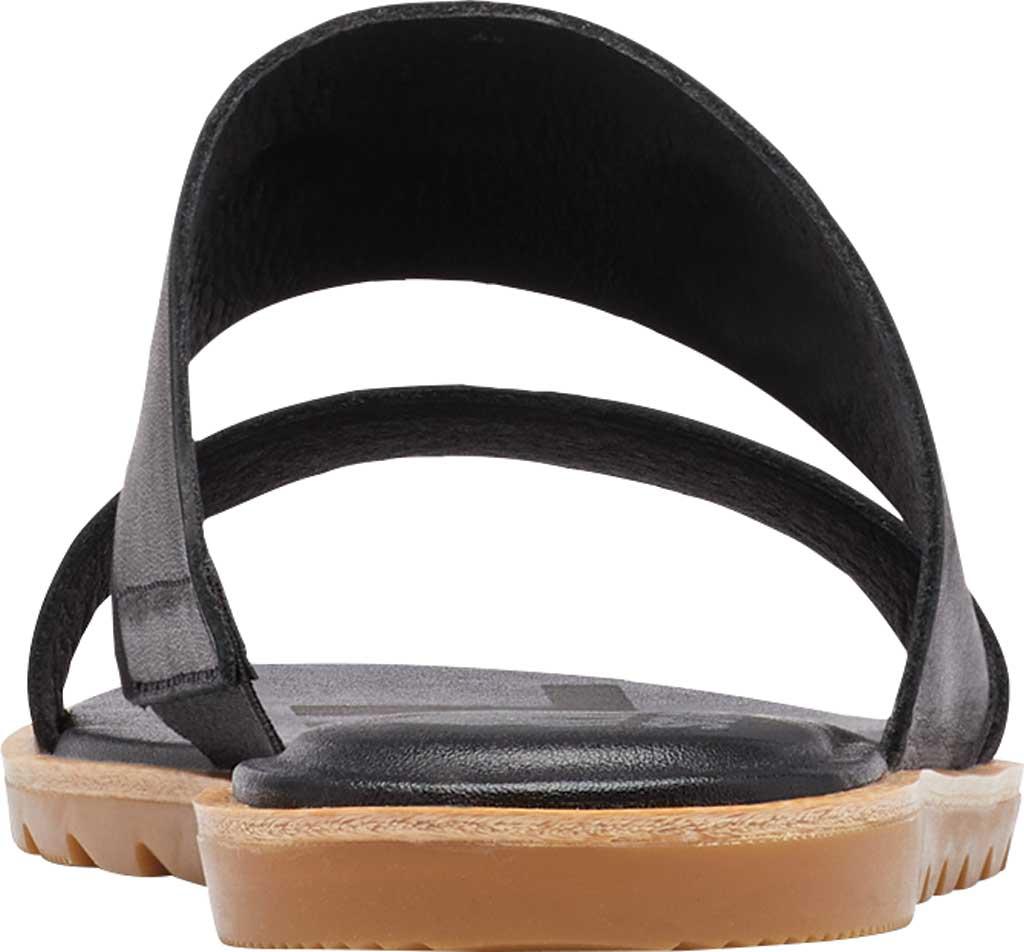 Women's Sorel Ella II Flat Slide, Black Full Grain Leather, large, image 4