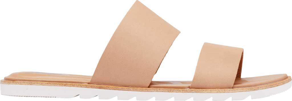 Women's Sorel Ella II Flat Slide, Honest Beige Full Grain Leather, large, image 2