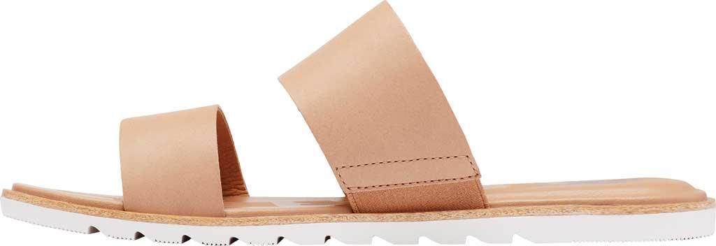 Women's Sorel Ella II Flat Slide, Honest Beige Full Grain Leather, large, image 3