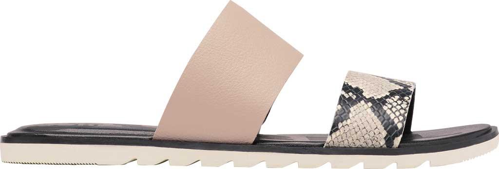 Women's Sorel Ella II Flat Slide, Mauve Vapor Full Grain Leather, large, image 2