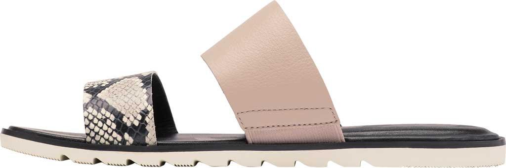 Women's Sorel Ella II Flat Slide, Mauve Vapor Full Grain Leather, large, image 3
