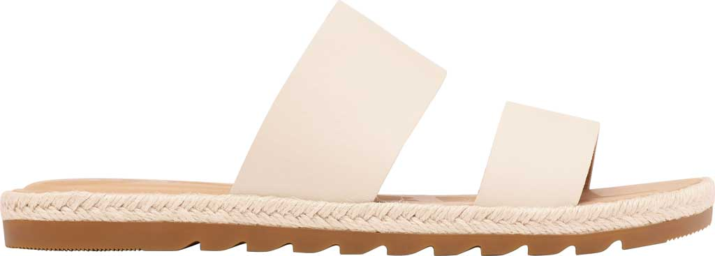 Women's Sorel Ella II Flat Slide, Chalk Full Grain Leather, large, image 2