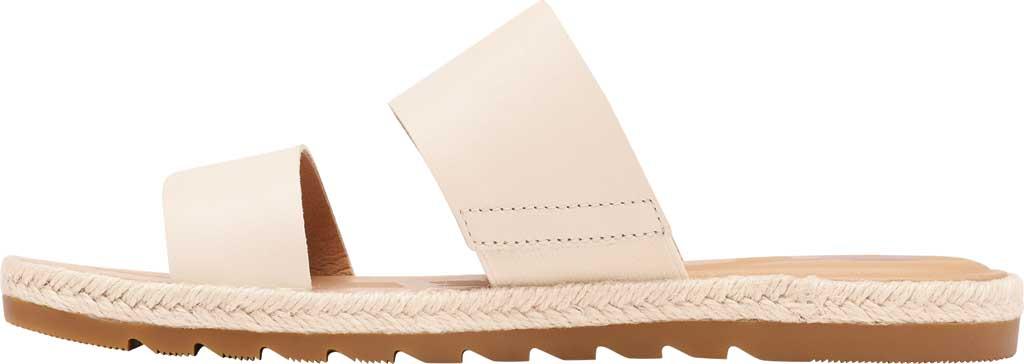 Women's Sorel Ella II Flat Slide, Chalk Full Grain Leather, large, image 3