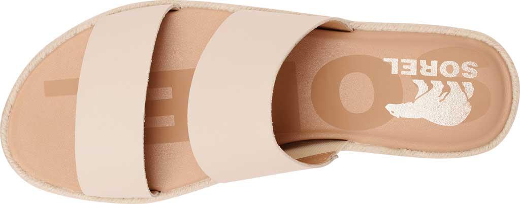 Women's Sorel Ella II Flat Slide, Chalk Full Grain Leather, large, image 5