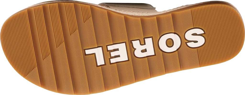 Women's Sorel Ella II Flat Slide, Chalk Full Grain Leather, large, image 6