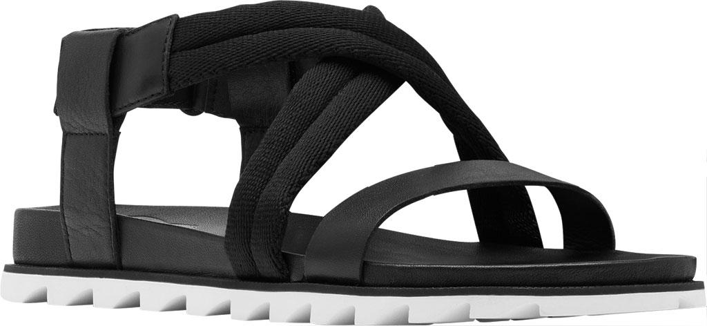 Women's Sorel Roaming Decon Slingback Sandal, Black Full Grain Leather/Textile, large, image 1