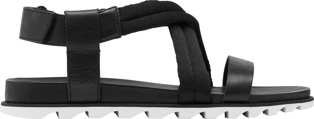 Women's Sorel Roaming Decon Slingback Sandal, Black Full Grain Leather/Textile, large, image 2
