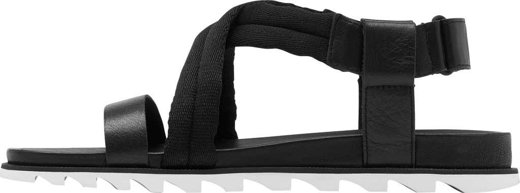 Women's Sorel Roaming Decon Slingback Sandal, Black Full Grain Leather/Textile, large, image 3