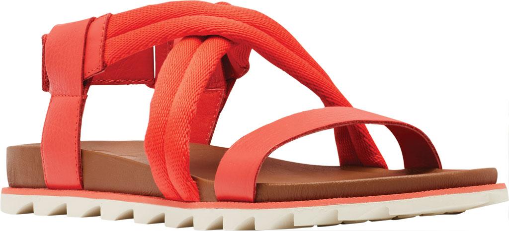 Women's Sorel Roaming Decon Slingback Sandal, Signal Red Full Grain Leather/Textile, large, image 1