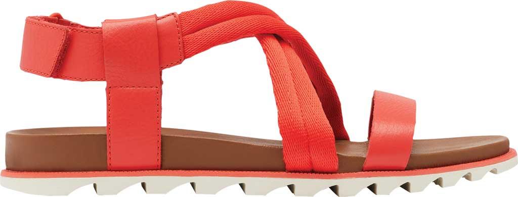 Women's Sorel Roaming Decon Slingback Sandal, Signal Red Full Grain Leather/Textile, large, image 2