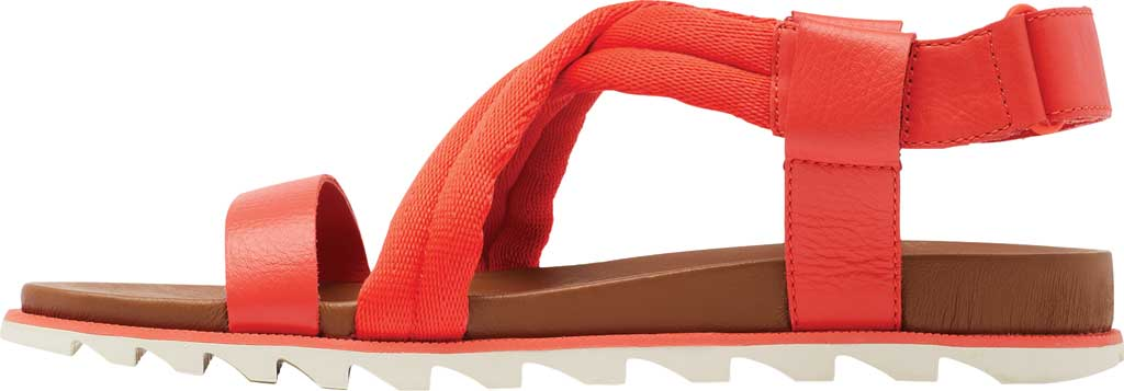 Women's Sorel Roaming Decon Slingback Sandal, Signal Red Full Grain Leather/Textile, large, image 3