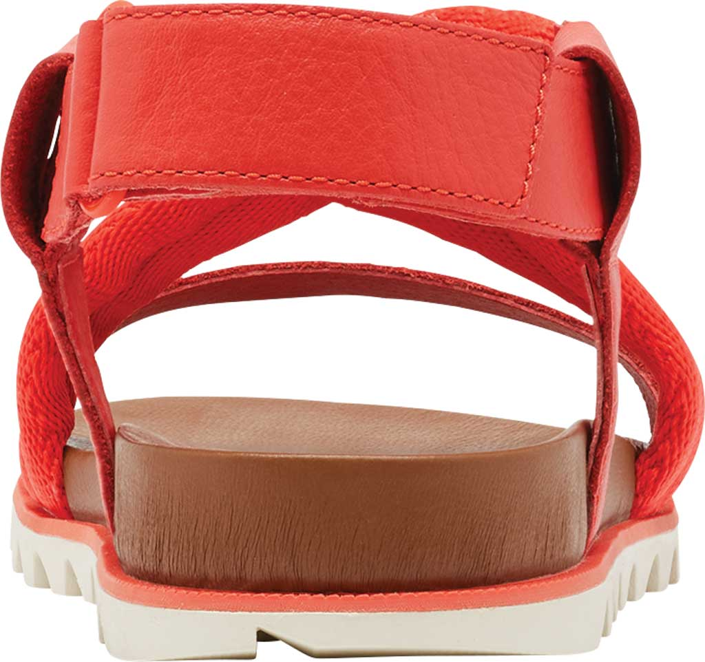 Women's Sorel Roaming Decon Slingback Sandal, Signal Red Full Grain Leather/Textile, large, image 4