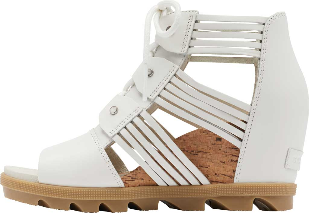 Women's Sorel Joanie II Lace Huarache Wedge Sandal, Sea Salt Full Grain Leather, large, image 3