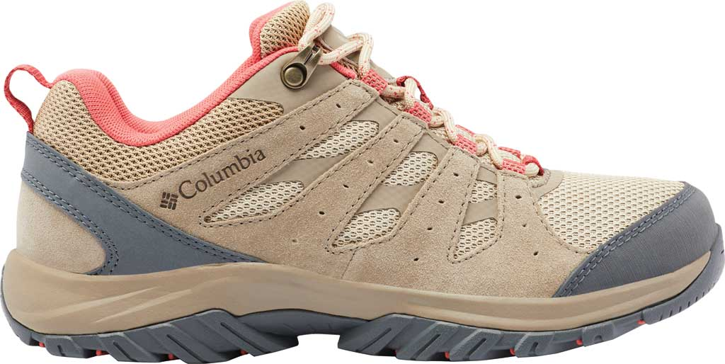 Women's Columbia Redmond III Hiking Shoe, Oatmeal/Red Coral, large, image 2