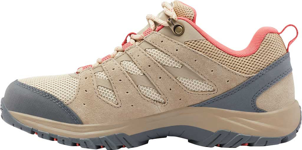 Women's Columbia Redmond III Hiking Shoe, Oatmeal/Red Coral, large, image 3