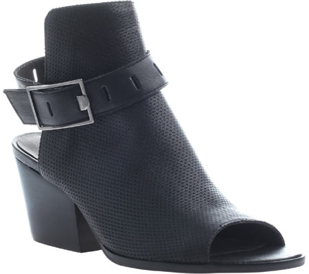 Women's Nicole Talullah Open Toe Bootie, Black Leather, large, image 1