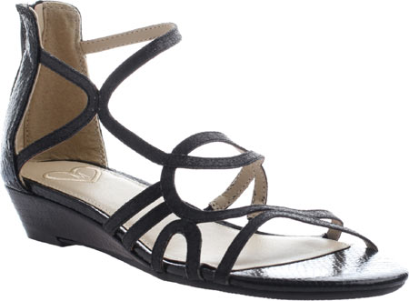 Women's Madeline Sizzle Strappy Sandal, Black Synthetic, large, image 1
