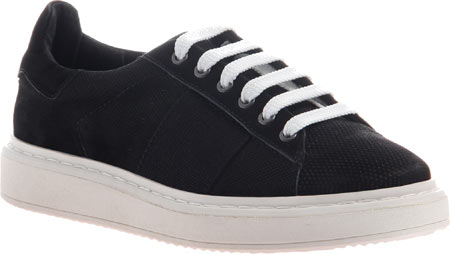 Women's OTBT Normcore Sneaker, Black Leather, large, image 1