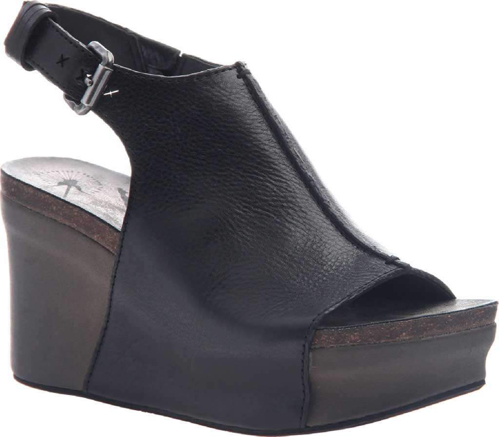 Women's OTBT Jaunt Slingback Sandal, Black Leather, large, image 1
