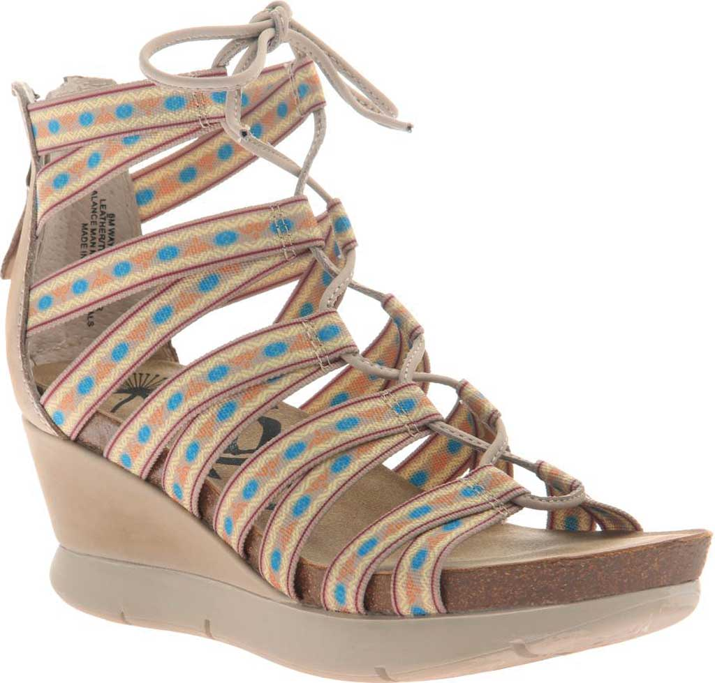 Women's OTBT Way Out Strappy Sandal, Mid Taupe Textile, large, image 1