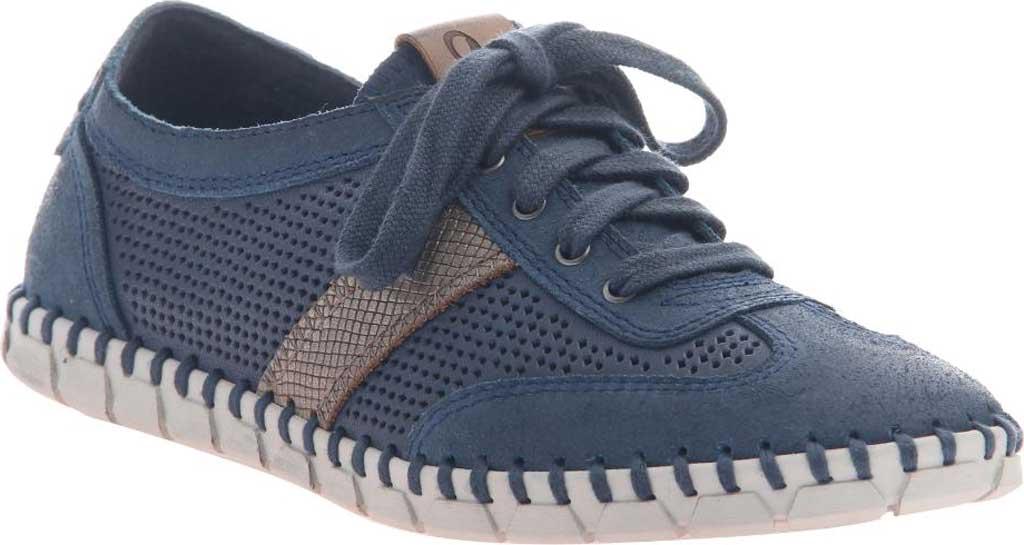 Women's OTBT Comet Sneaker, Marine Leather, large, image 1