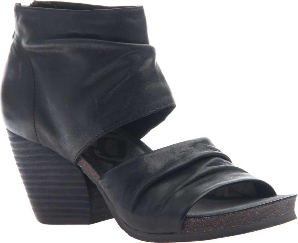 Women's OTBT Patchouli Heeled Sandal, Black Leather, large, image 1