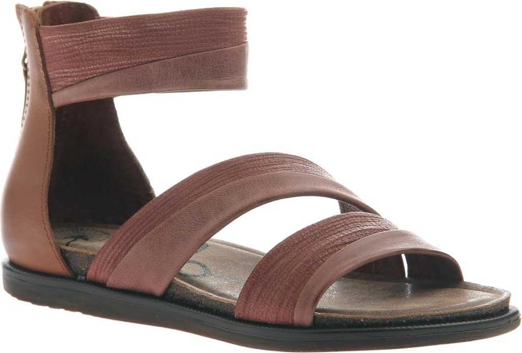 Women's OTBT Souvenir Flat Sandal, Sangria Leather, large, image 1