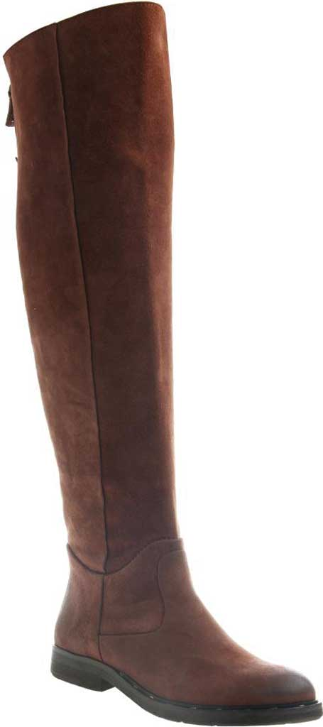 Women's OTBT Steerage Over The Knee Boot, Medium Brown Suede Leather, large, image 1