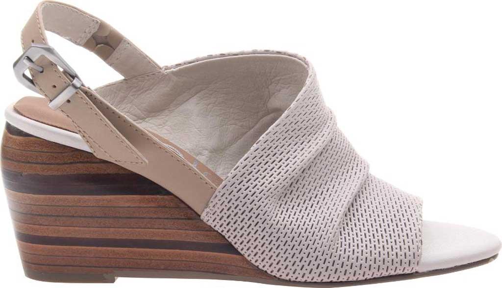 Women's Nicole Aziza Slingback Wedge Sandal, Dove Grey Leather, large, image 2
