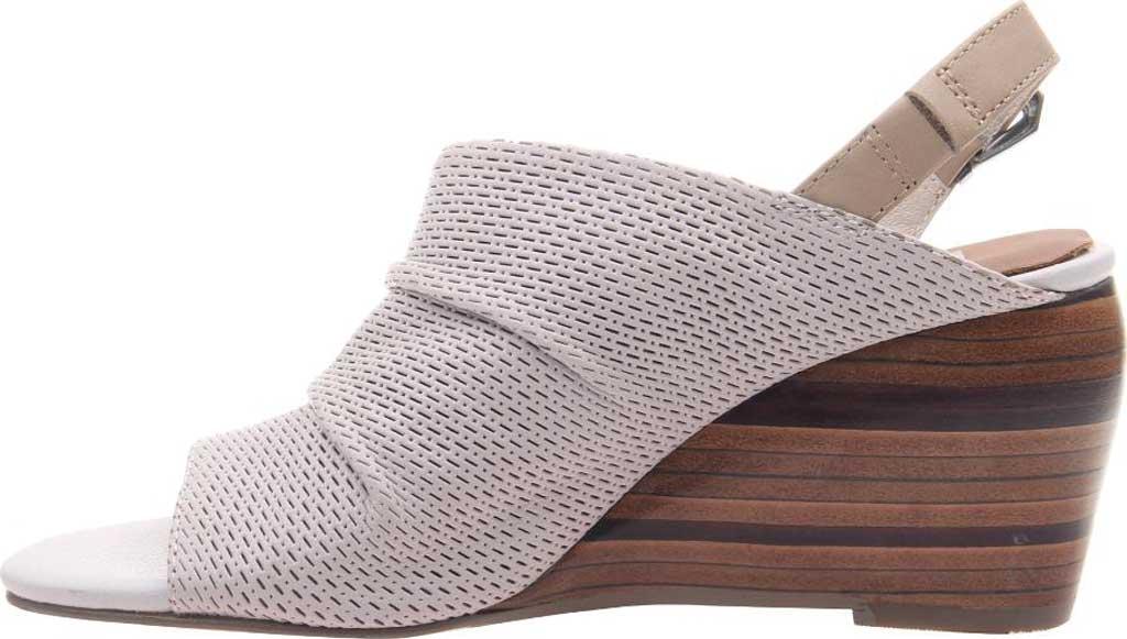 Women's Nicole Aziza Slingback Wedge Sandal, Dove Grey Leather, large, image 3