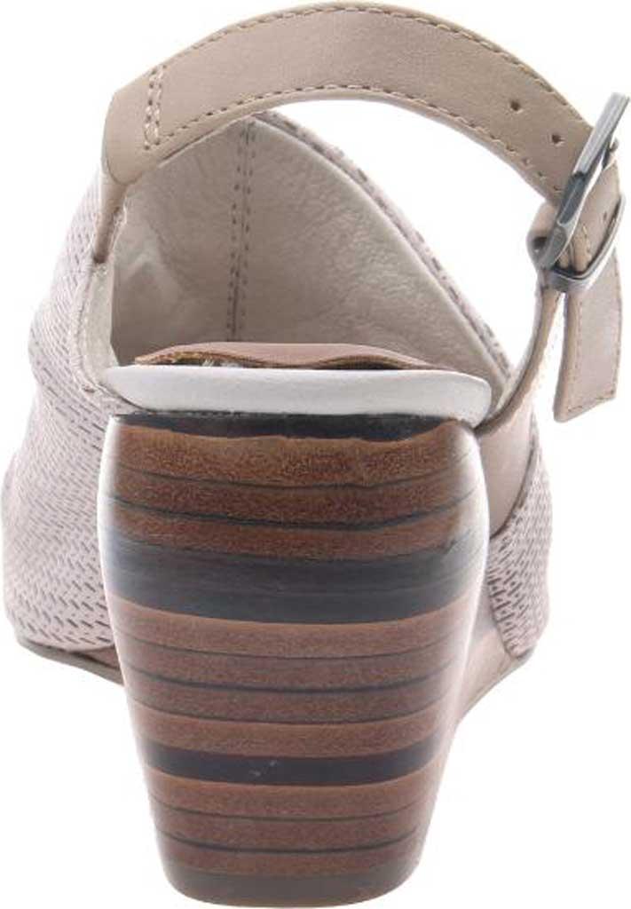 Women's Nicole Aziza Slingback Wedge Sandal, Dove Grey Leather, large, image 4