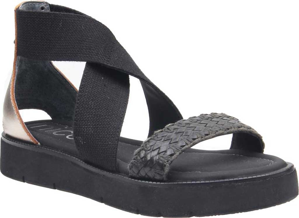 Women's Nicole Karla Strappy Sandal, Black Synthetic/Leather/Textile, large, image 1