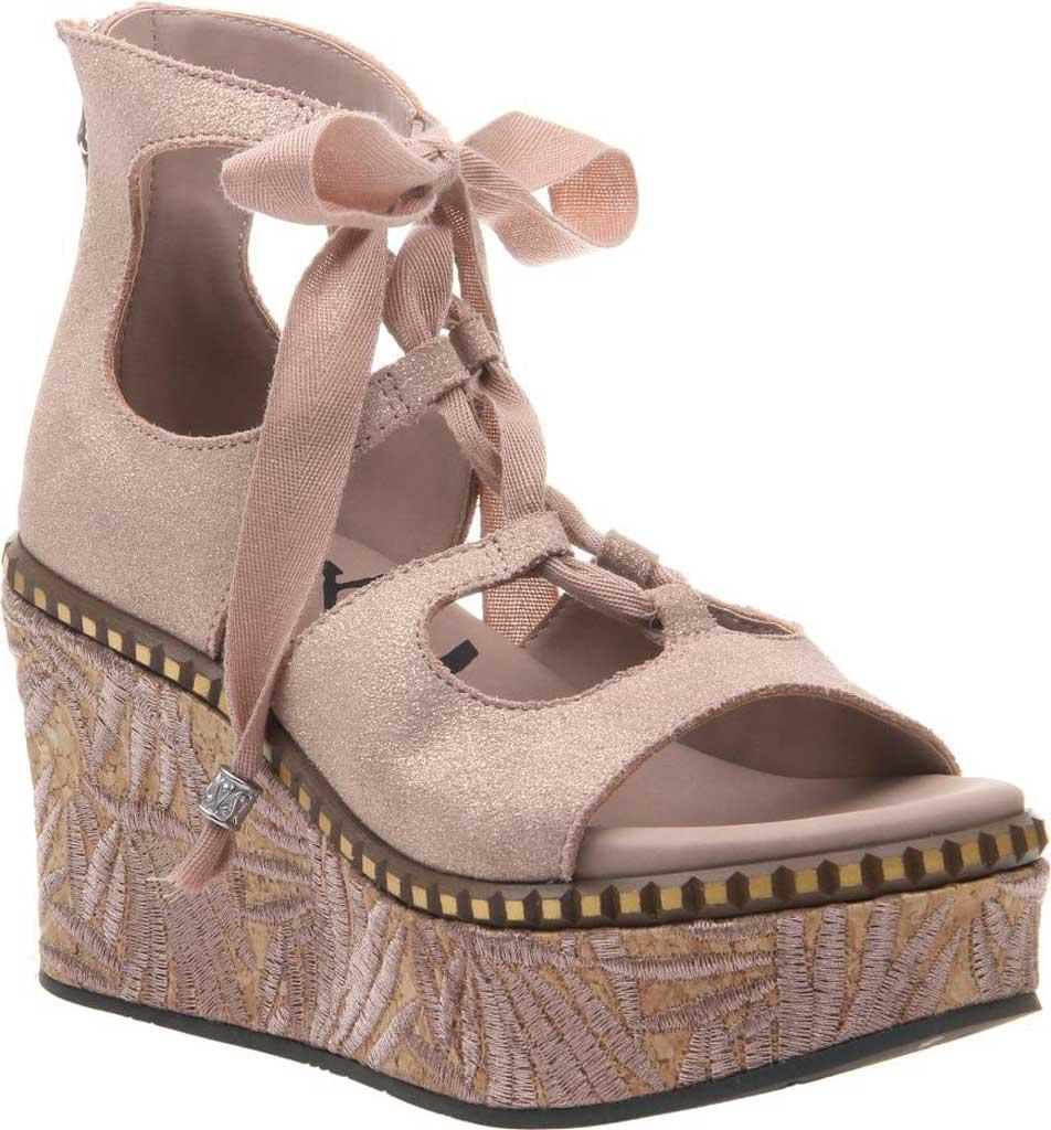 Women's OTBT Kentucky Gladiator Sandal, Copper Metallic Suede, large, image 1